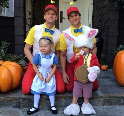 Neil Patrick Harris e a família