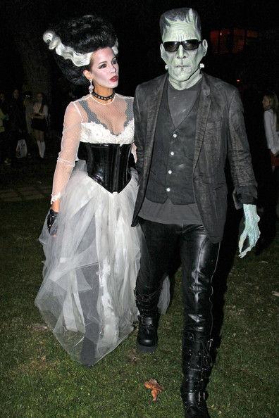 Kate Beckinsale e Len Wiseman como o Frankenstein e a sua noiva